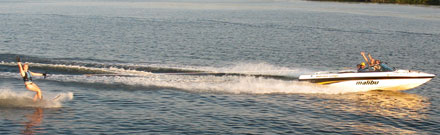 People water skiing on Lake Vermilion