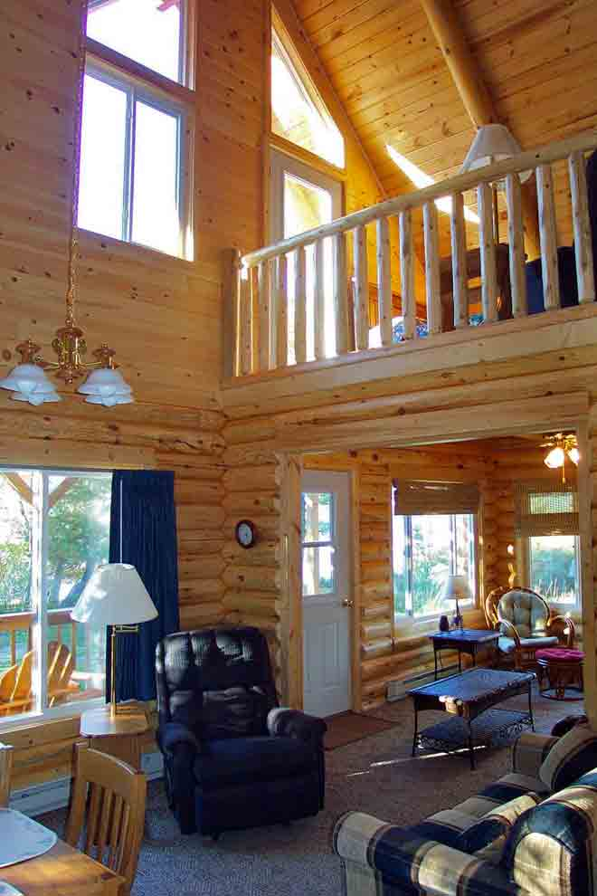 Mn Resort Cabin Aurora New Log Cabin On Lake Vermilion