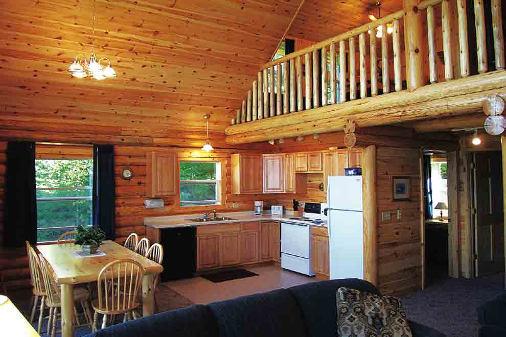 Minnesota vacation cabins 3 bedroom cabin loft for 2 bedroom log cabin with loft