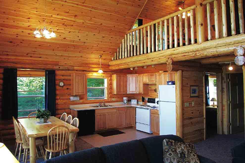 Minnesota vacation cabins 3 bedroom cabin loft for Cabin lofts