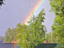 Rainbow over Lake Vermilion