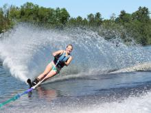Water skiing Lake Vermilion