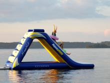 Lake Vermilion resort slide.