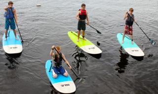 ISLE SUP boards with carbon paddles