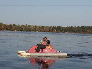 Couple on paddle boat on Lake Vermilion