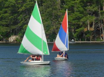 Two sunfish sailing on Lake Vermilion