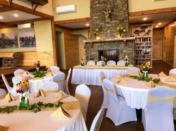 Indoor summer reception in the Main Lodge
