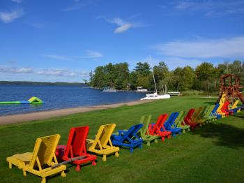 The beach at Pehrson Lodge