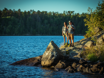 Couple at the Black Bay Hiking Trail