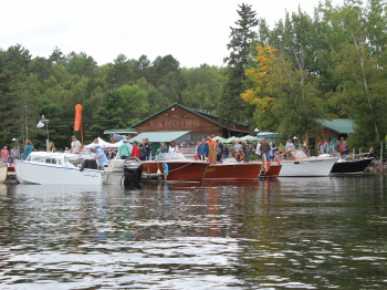 The Landing on Lake Vermilion during the Classic and Antique Boat Show, Labor Day Weekend