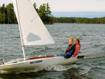 Two girls on MC scow
