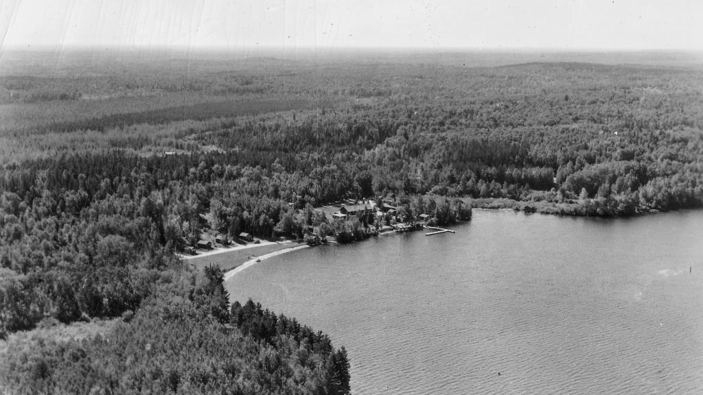 Pehrson Lodge on Lake Vermilion Historical Photograph