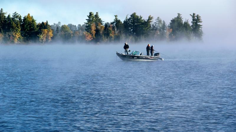 Fishing boat with fishermen on Lake Vermilion